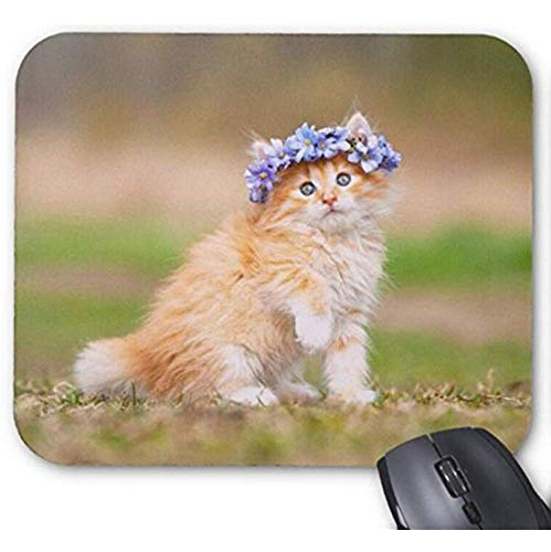 Mousepad Leuke Kitten Schattige Haarband Print Muis Mat