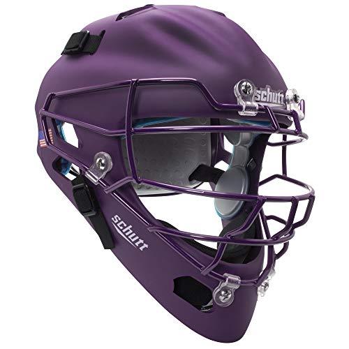 Schutt Sports Air MAXX Hockey-Style Catcher's Helmet with Steel Faceguard Matte Purple