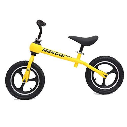YHLZ Bicicleta de Equilibrio de los niños, la diversión de los niños/Pedal Bike Balance, Ajustable del Asiento del Manillar Bicicleta de Equilibrio, de 12 Pulgadas Sport Edition Y Neumáticos cómodo