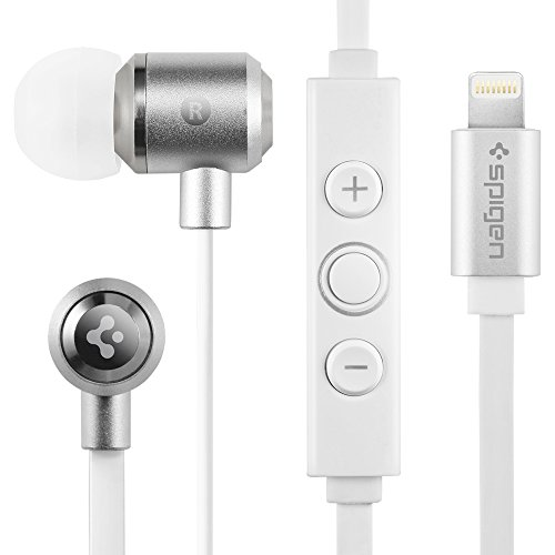Spigen Lightning Headphone for iPhone Earbud Earphone for iPhone X / 8/8 Plus / 7/7 Plus / 6S / 6S Plus with Apple MFI Approved Lightning Port with...