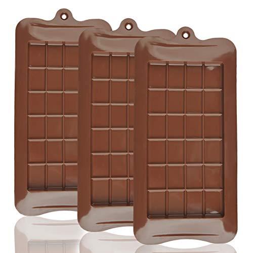 OFNMY 3 piezas Molde de Chocolate Aprobado por la FDA 100% silicona de Grado Alimentaria Anti-adherente para dulces, chocolate, caramelos,pasteles, decoraciones para fiestas
