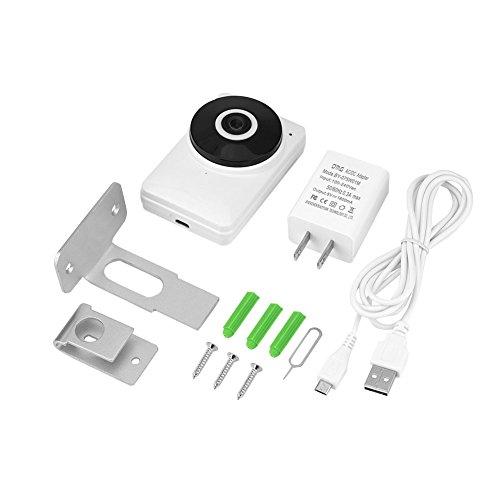 zcyg Cámara Cámara de vigilancia Cámara de Seguridad Cámara IP De Fisheye, 1080p FishEye IP Teléfono Control De Teléfono Audio De 2 Vías Cámara De Ojo De Pez con Enfoque Manual