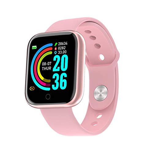 N / E Y68 - Pulsera inteligente con pantalla de color para deportes de ritmo cardíaco, fitness, paso respiración, luz impermeable, movimiento inteligente
