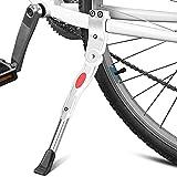RoxNvm Pata de Cabra para Bicicleta, Pata de Cabra Lateral para Bicicleta, Soporte Lateral de Bicicleta de aleación de Aluminio Blanco con Herramienta para Bicicleta de Carretera, Bicicleta Plegable