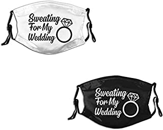 2 Pcs/Set Couple Cloth Face Masks,As You Wish,Reusable Balaclava for Unisex Adult_F.1