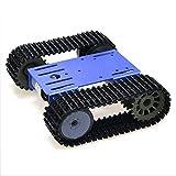WF Control Remoto de la Plataforma del chasis del Tanque de un Seguimiento con el Doble Motor de 12V DC y el Panel de Metal y el Robot Inteligente para el Juguete de DIY Arduino,Azul