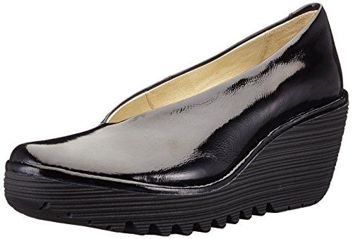 FLY London Damen Yaz Wedge Schuhe, Schwarz (Black 207), 40 EU