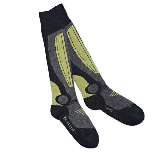Rohner Socken Erwachsene Socks Next Ski 2er Pack Rohner, Schwarz, 39-42