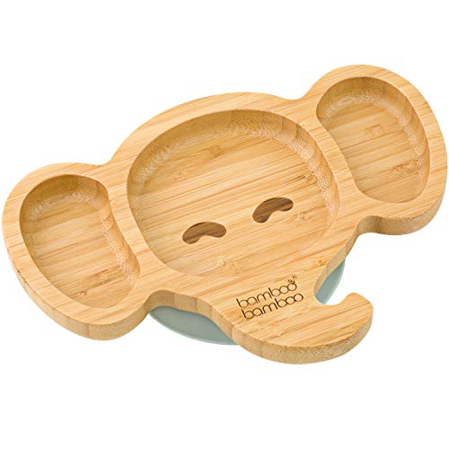 Baby Toddler Elephant Suction Plate (Grey)