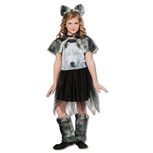 Kinder Kostüm Wolf zu Karneval Fasching Halloween Gr.L