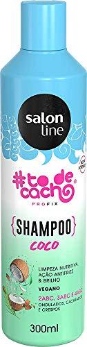 Shampoo #todecacho Coco, 300ml, Salon Line, Salon Line, Branco