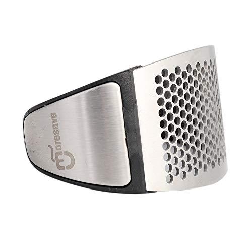 PowerBH Arbeitssparende Edelstahl-Knoblauchpresse, sicher und verletzt Nicht den Handdruck-Knoblauch gebogenes Multifunktions-Handschleifer-Küchen-Spezialwerkzeug