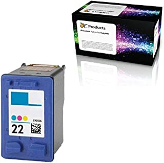 OCProducts Refilled HP 22 Ink Cartridge Replacement for HP PSC 1410 Deskjet F4180 F2280 D2360 D1560 D2460 F380 Officejet 4315 Printers (1 Color)