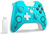 Wireless Controller for Xbox One, No Headset Jack, 2.4GHZ Game Controller Gamepad Compatible with Xbox One S/X PC (Blue)