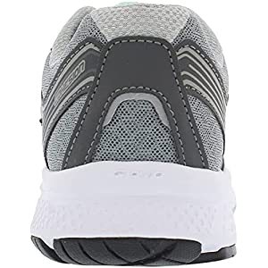 Saucony Women's Cohesion 10 Running Shoe, Grey/Mint, 7 Wide