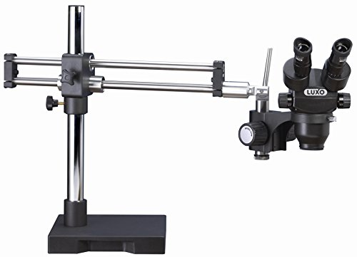 Luxo 23720RB-ESD System 373RB-ESD Safe Trinocular Microscope, Stereo-Zoom, Roller Bearing Stand, 23 mm