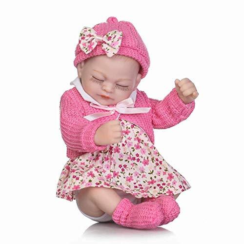 Reborn Dolls, Simulación Palm Doll Premature Newborn Baby Doll Suave Silicona Vinilo Niño Baño Playmate 27 Cm