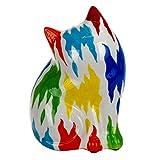 Vidal Regalos Hucha Figura Decorativa Gato Colorido 21 cm