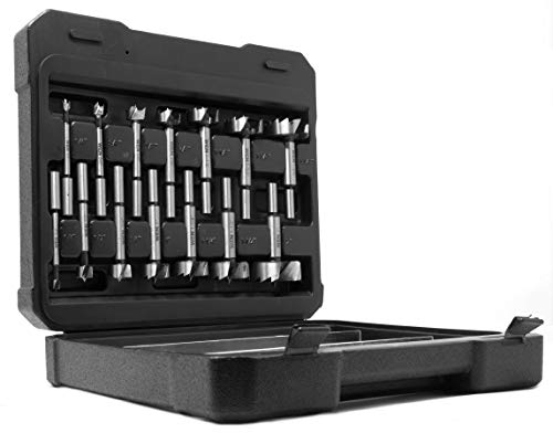 WEN FB5114 14-Piece Forstner Bit Set with Carrying Case