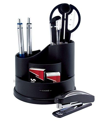 Exerz Desk Organiser with Stationery Included – Scissors, Stapler,...