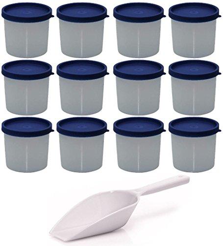 mikken Gefrierdose, Kunststoff, Weiß, 12er Set / 200 ml
