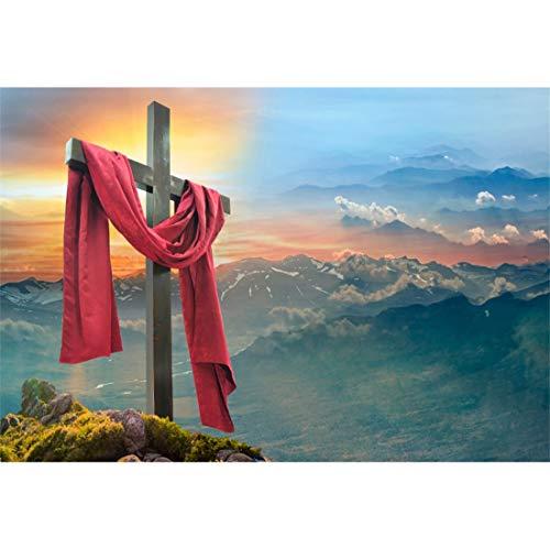 Yeele-Easter-Backdrop 10x8ft Easter Photography Background Cross Peak Dawn Holy Light Resurrection Grassland Photo Backdrops Pictures Studio Props Wallpaper