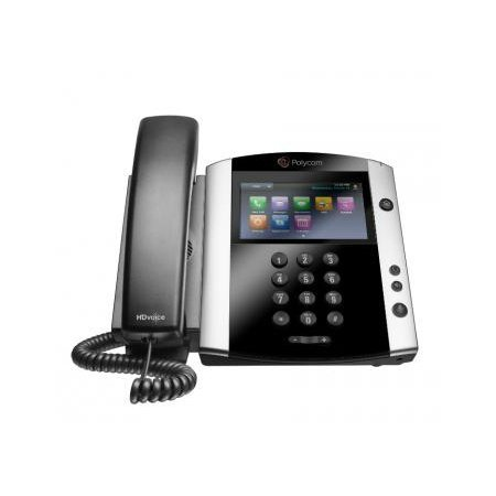 Polycom VVX 601 Corded Business Media Phone System - 16 Line PoE - 2200-48600-001 - AC Adapter (Included) - Replaces VVX 600 (Renewed)