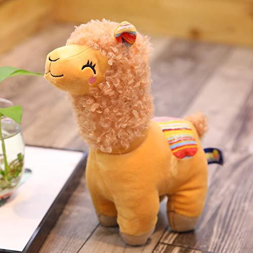 ZJL220 Neue 25cm Smile Stripe Alpaka Lama Plüschtiere Spielzeug Gefüllte Puppe Kinderspielzeug Geburtstagsgeschenke