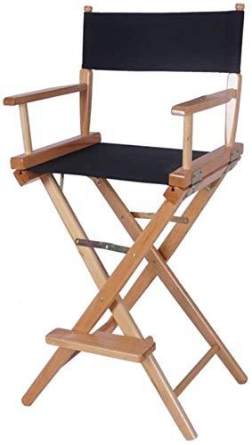 JYHS Sillas para el hogar de madera gruesa, plegable, lavable, portátil, resistente al agua, taburete alto, silla de salón, fd/A, nombre del color: A cómodo (color: B)
