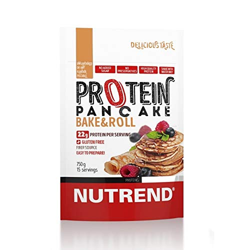 Nutrend PROTEIN PANCAKE MPI and WPC 750g Natural Flavor healthy Gluten Free, easy and quick preparatio food alternative not just for well-being moments
