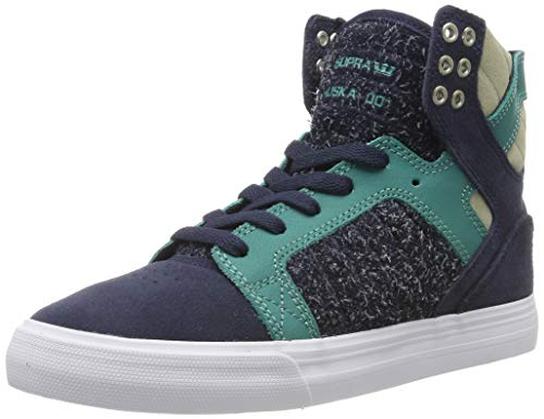 Supra Unisex-Erwachsene Skytop Hohe Sneaker, Blau (Navy/Teal-White-M 470), 42 EU