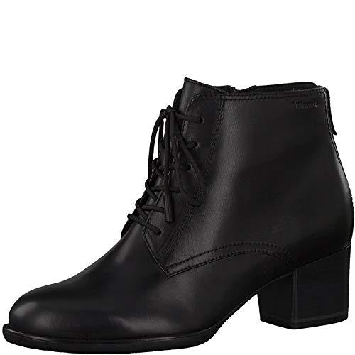Tamaris Damen Stiefeletten, Frauen Ankle Boots, geschäftsreise geschäftlich büro Stiefel halbstiefel Bootie knöchelhoch Lady,Black,40 EU / 6.5 UK