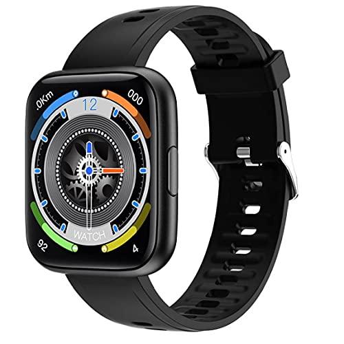 Naisedier Inteligente Reloj Sports Tracker Impermeable Pantalla 1.69 En Completa con Contador de Paso de Control de música Compatible con iPhone Android Negro Diseño Funcional Integral Más