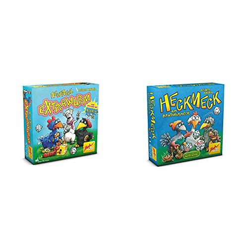 Zoch 601105081 - Heckmeck Extrawurm - Erweiterungsset, Würfelspiel & 601125200 - Heckmeck am Bratwurmeck Karten und Würfelspiel