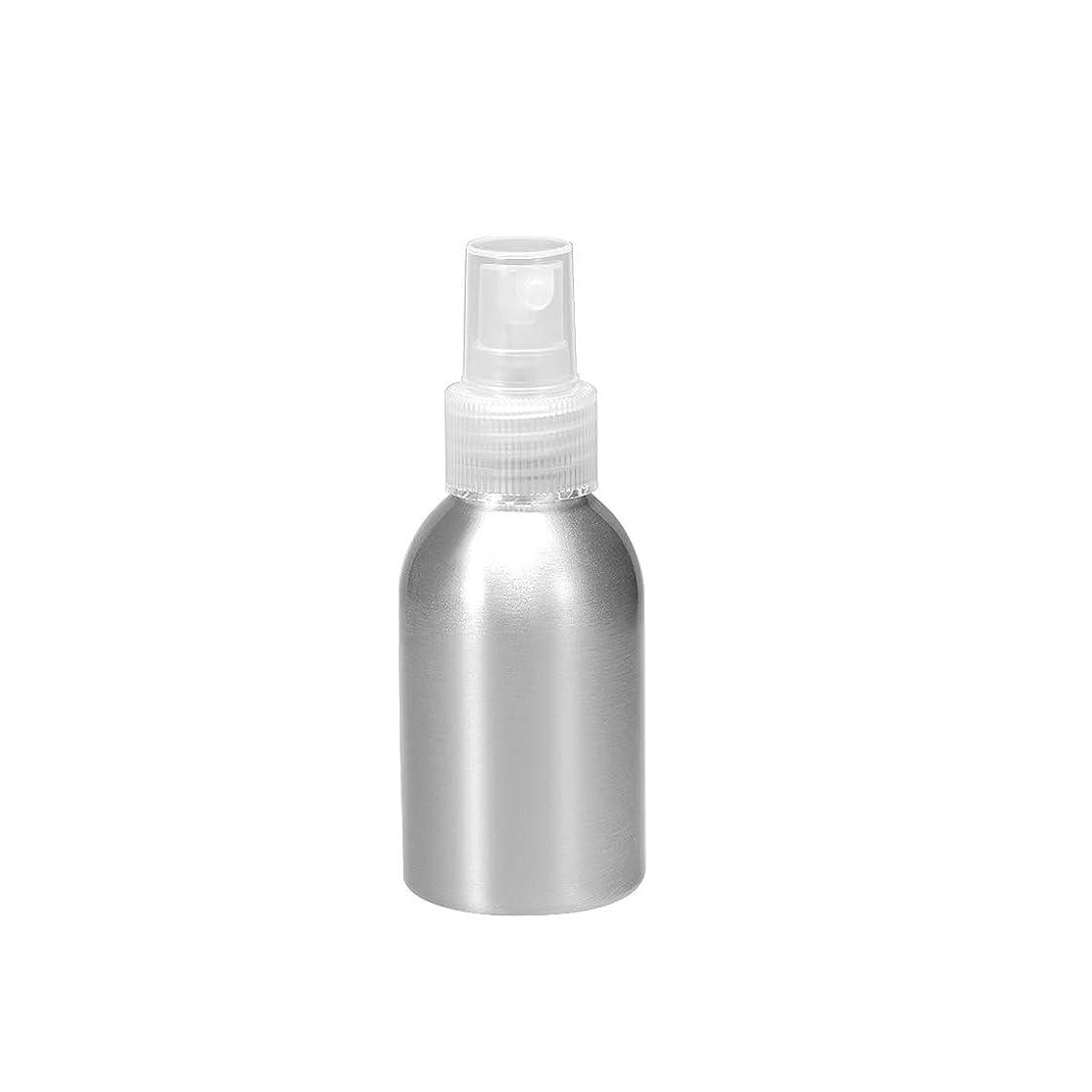 三角形翻訳失効uxcell アルミスプレーボトル クリアファインミストスプレー付き 空の詰め替え式コンテナ トラベルボトル 1.7oz/50ml