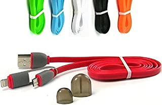 Yanwein 10744 二合一USB 充电线/8 针照明电缆/微型 USB 数据线/iPhone 6/iPhone 5/Galaxy 6/Galaxy 5/全合一,橙色
