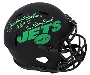 Curtis Martin Signed New York Jets Eclipse Riddell Full Size Speed Replica Helmet w/HOF'12, 5x Pro Bowl - Schwartz Authentic