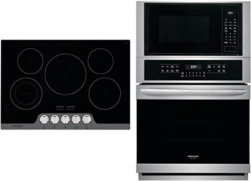 Frigidaire 2 Piece Kitchen Appliances Package with FGMC2766UF 27 Electric Double Wall Oven Microwave product image