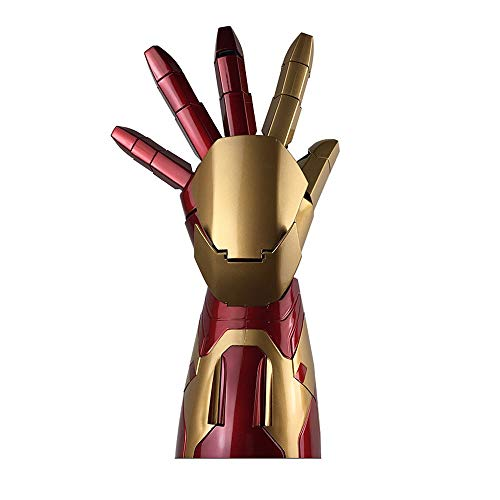 ZSIF Marvel Hero Iron Man Modell Avengers 4 1: 1 Rüstung Wearable Arm Modell Spielzeug Live Size Wird leuchten (Linke Hand)