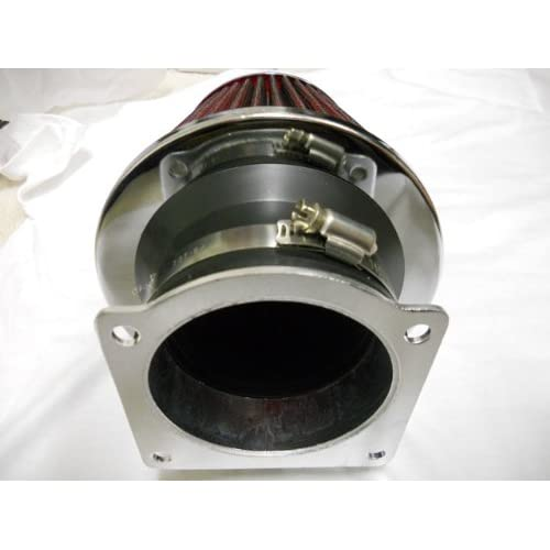Filter 97-03 Mountaineer 4.0L V6 RED Mass Air Flow Sensor Intake MAF Adapter