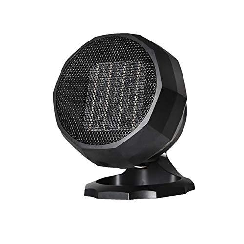 GKJ Mini Calentador de Aire Caliente, PTC Calefacción de Cerámica 1800W/1000W/5W,Calefactor Portátil Eléctrico Bajo Consumo con Protección contra Sobrecalentamiento,Negro