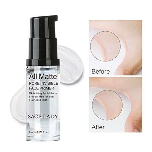 Hilai 1Bottle Foundation Primer de maquillaje Mattifying Pore Minimizing Primer Arrugas ocultas y líneas finas suaves Control de aceite Cara para maquillaje y aplicación de base (6 ml, 0.2 oz)