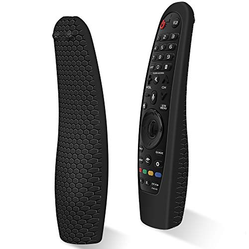 Custodia in Silicone Compatibile con LG Telecomando AN-MR18BA / AN-MR19BA/ AN-MR20GA Smart TV Telecomando per LG Magic Magico Remote Protettiva Cover Anti-perso Anti-Scivolo Cassa Copertura(Nero)