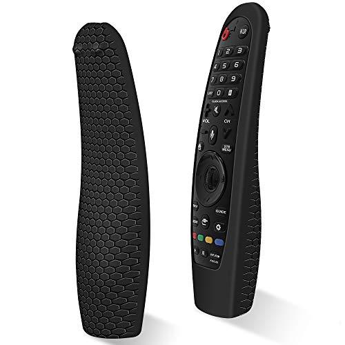 Custodia in Silicone Compatibile con LG Telecomando AN-MR18BA / AN-MR19BA/ AN-MR20GA Smart TV Telecomando per LG Magic Magico Remote Protettiva Cover Anti-perso Anti-Scivolo Cassa Copertura(Nero)