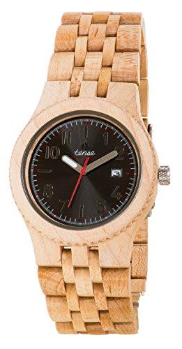 TENSE Wood Watch Mens Yukon Uomo Legno di acero J5200M