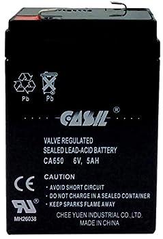 Casil 6V 5AH Amp AGM SLA Rechargeable Battery Replaces 4ah 4.5ah