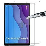 THILIVE [2 Unidades] Lenovo Tab M10 HD Gen 2 Protector de Pantalla, Vidrio Cristal Templado 9H Dureza,HD-display,Anti-Huellas,Anti-Burbujas