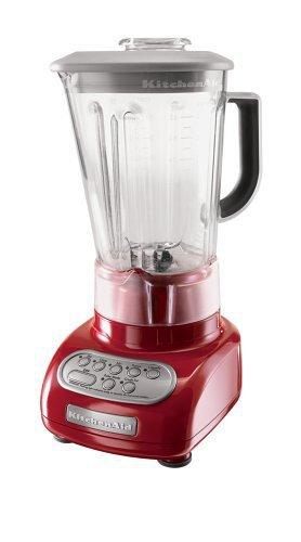 KitchenAid KSB560ER 5-Speed Blender with Polycarbonate Jar, Empire Red