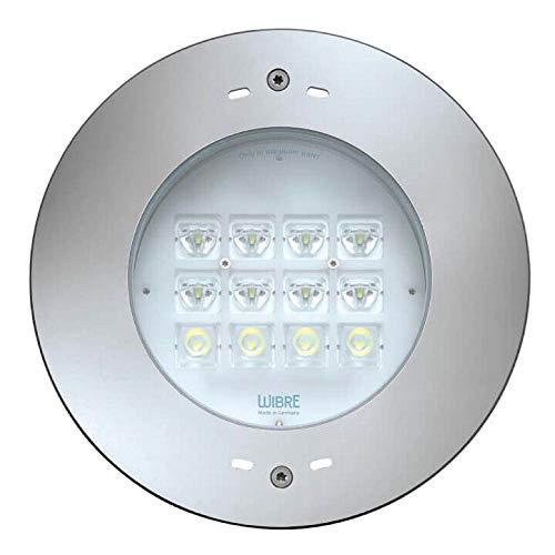 LED Unterwasserleuchte Schwimmbad-Scheinwerfer für Wand- und Bodeneinbau, 47W, 6000K, 6900lm, Edelstahl, IP68