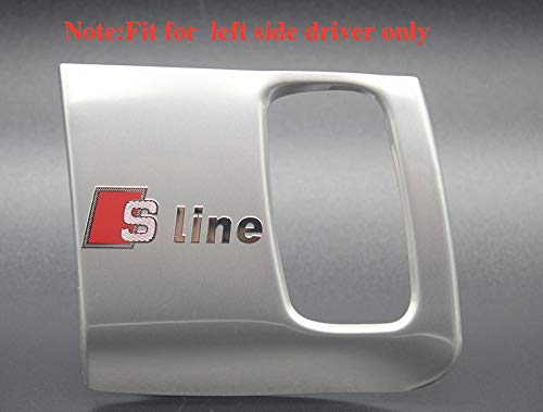 Mynew in Acciaio Inox per Interni Auto S Line Logo Buco della Serratura Copertura Sline Foro Chiave Trim Auto Cromato Adesivo 3D per Audi A4 S5 A5 Accessori